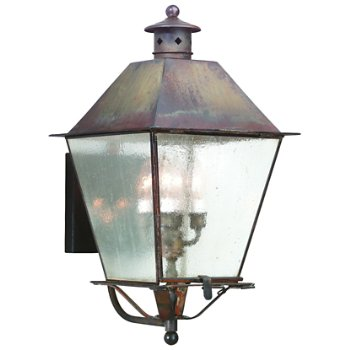 Shown in Clear Seeded glass, Natural Aged Brass finish, Extra Large size