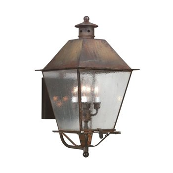 Shown in Clear Seeded glass, Natural Rust finish, Extra Large size