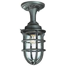 Wilmington Outdoor Semi-Flushmount Light Lantern
