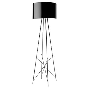 Shown in Black Painted Metal shade, Chrome finish
