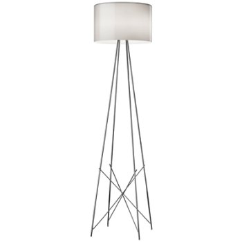 Shown in Gray Blown Glass shade, Chrome finish