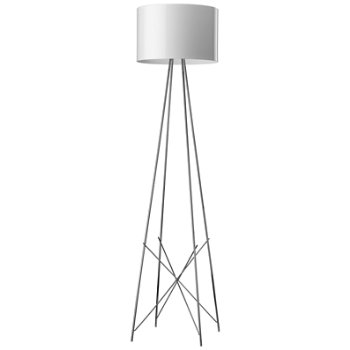 Shown in White Painted Metal shade, Chrome finish