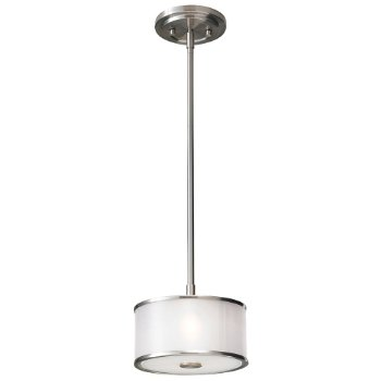 Shown in Brushed Steel with Silver Organza shade