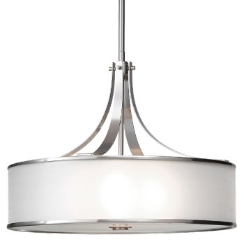 Shown in Brushed Steel with Silver Organza