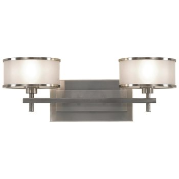 Shown in Brushed Steel with Silver Organza shade, 2 Light