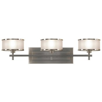 Shown in Brushed Steel with Silver Organza shade, 3 Light