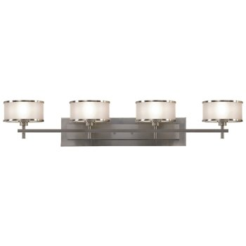 Shown in Brushed Steel with Silver Organza shade, 4 Light