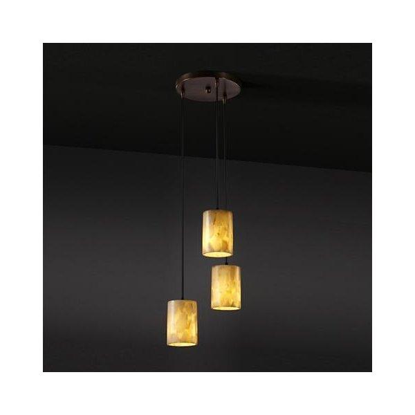 Alabaster Rocks 3 Light Cluster Pendant By Justice Design Group At Lumens Com