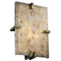 Alabaster Rocks! Clips Rectangle Wall Sconce