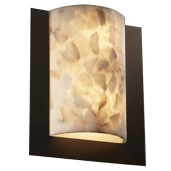 Alabaster Rocks! Framed Rectangle Wall Sconce