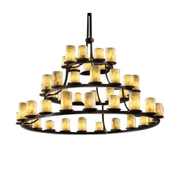 Alabaster Rocks! 3-Tier Ring Chandelier