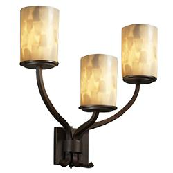 Alabaster Rocks! Sonoma 3 Light Wall Sconce