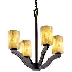 Alabaster Rocks! Bend Chandelier