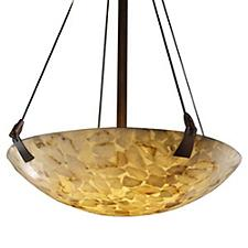 Alabaster Rocks Bowl Pendant Light