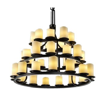 CandleAria Dakota 3-Tier Ring Chandelier