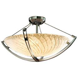 Veneto Luce Semi-Flush Bowl with Crossbar