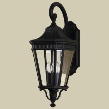 Shown in Clear Beveled glass, Black finish