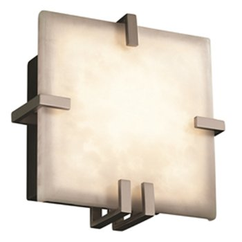 Shown in Brushed Nickel finish, Clouds Resin shade
