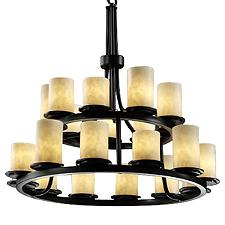 Clouds Dakota 2-Tier Ring Chandelier