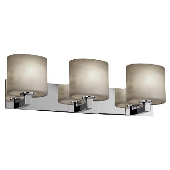 Shown in Polished Chrome finish, Oval shade, 3 Light