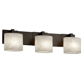 Shown in Dark Bronze finish, Oval Shade, 3 Light