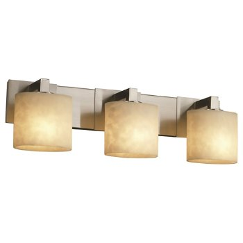 Shown in Brushed Nickel finish, Oval shade, 3 LIght
