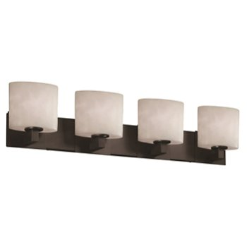 Shown in Matte Black finish, Oval shade, 4 Light
