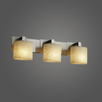 Shown in Polished Chrome finish with Oval shade, 3 Light
