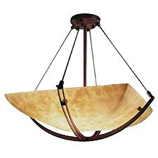 Clouds Bowl Suspension Light with Crossbar