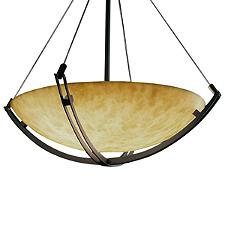 Clouds Grande Bowl Suspension Light with Crossbar