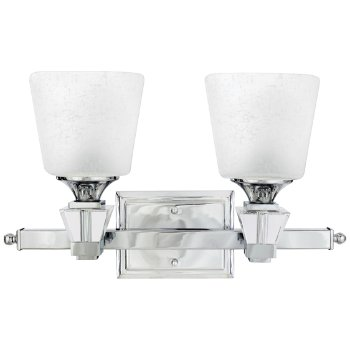 Shown in Cream Linen glass, Polished Chrome finish