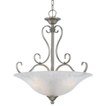 Shown in Antique Nickel with Grey Marble shade