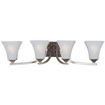 Shown in Frosted glass, Satin Nickel finish