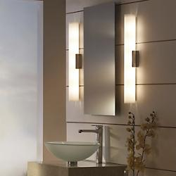 Bathroom sconces vertical horizontal bath sconces at lumens solace bath bar mozeypictures Images