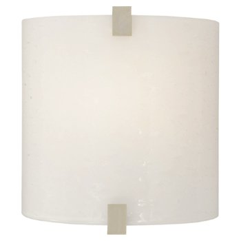 Shown with Surf White Glass shade and Satin Nickel finish