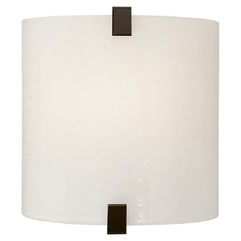 Shown with Surf White Glass shade and Antique Bronze finish