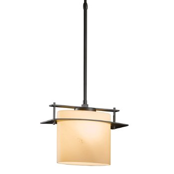 Shown in Dark Smoke finish with Stone Glass color, Standard Length