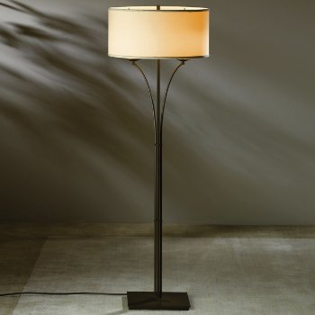 Shown in Doeskin Micro-Suede glass, Bronze finish