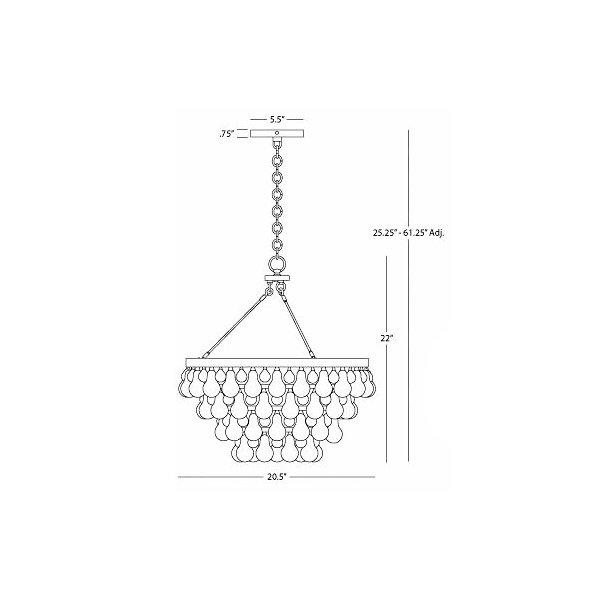 Bling Chandelier/Semi-Flushmount