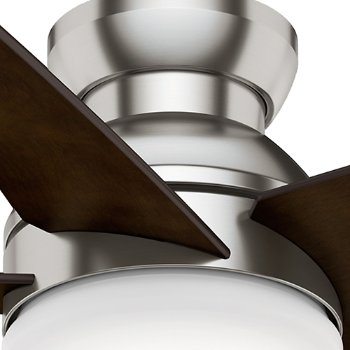 Shown in Brushed Nickel with Espresso, 44 Inch
