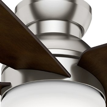 Shown in Brushed Nickel with Espresso, 52 Inch
