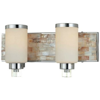Etched Opal shade, Chrome finish with Natural shell
