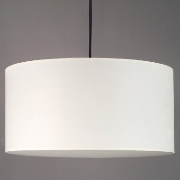 Shown in Natural Linen shade, matching bottom diffuser