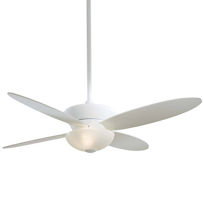 White ceiling fan with White Frosted glass