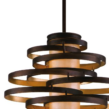 Shown in Bronze and Gold Leaf with Caramel Ice finish, Medium size