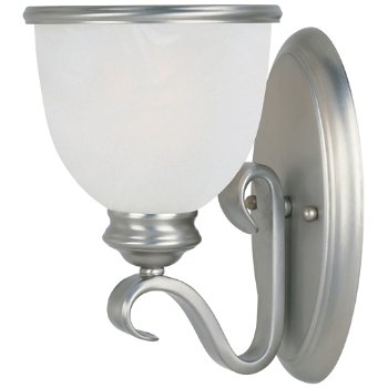 Shown in Pewter with White Marble