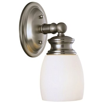 Shown in Satin Nickel with Frosted Opal shade