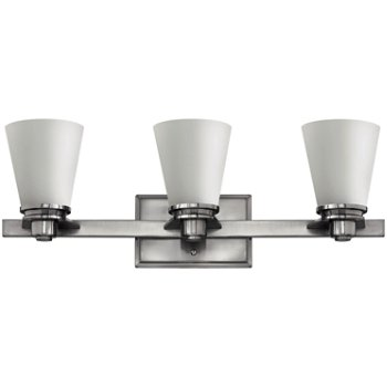 Shown in Brushed Nickel with Etched Opal finish, 3 Light