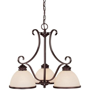 Shown in English Bronze with Cream Marble shade