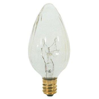 25W 120V F10 E12 Clear Flame Bulb